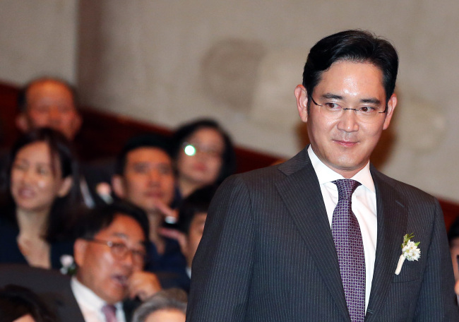 Samsung Electronics Vice Chairman Lee Jae-yong.