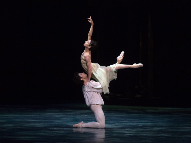"A scene from Kenneth MacMillan's ballet rendition of ""Romeo and Juliet"""