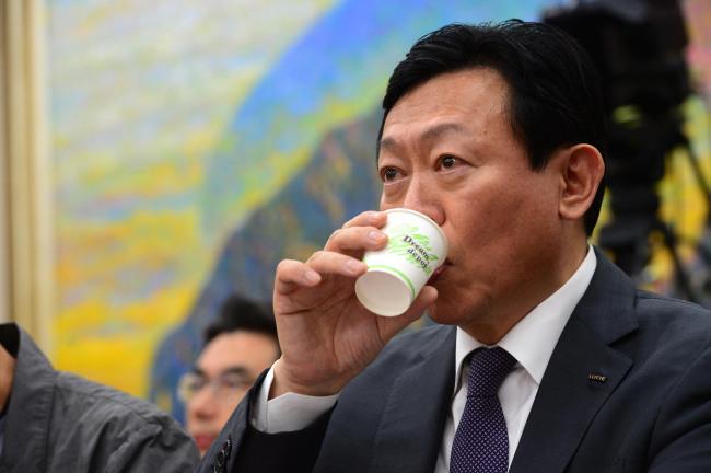 Lotte Group Chairman Shin Dong-bin. The Investor
