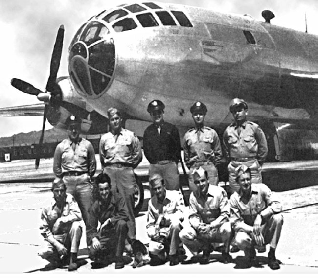 US Army Air Force Bockscar plane and its crew, who dropped the