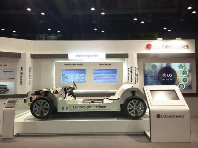 LG Electronics' lightweight platform for EV