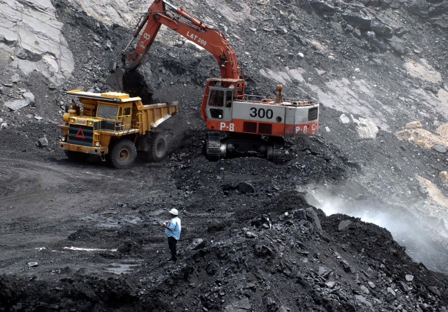 A coal mine in India