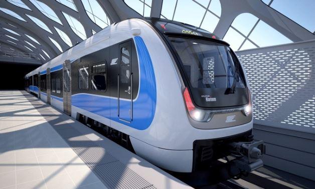 A rendering image of Hyundai Rotem's train car. Hyundai Rotem