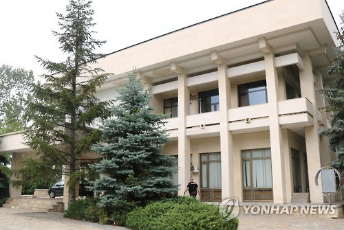This photo, taken on Oct. 2, shows the North Korean Embassy building in Sofia, Bulgaria. (Yonhap)