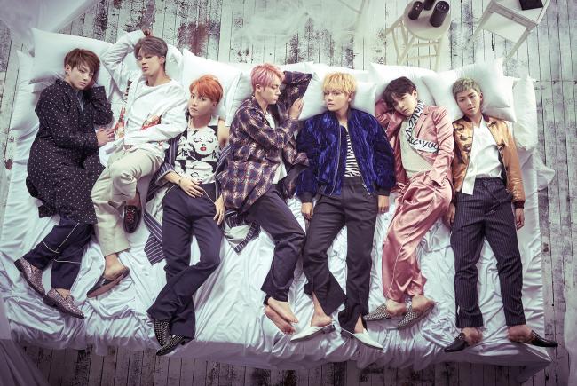 K-pop boy band Bangtan Boys (Big Hit Entertainment)