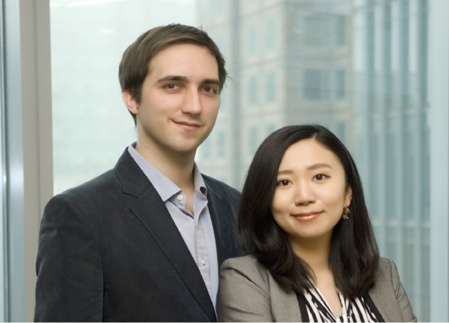 Olivier Duchenne (left) and Sophie Eom are the co-founders of Korean machine learning-based data mining solution startup Solidware. Solidware