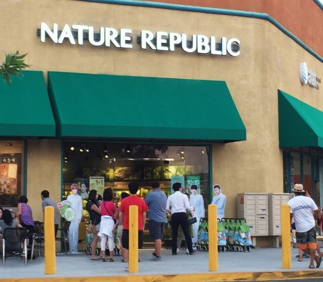 Nature Republic's store in Los Angeles
