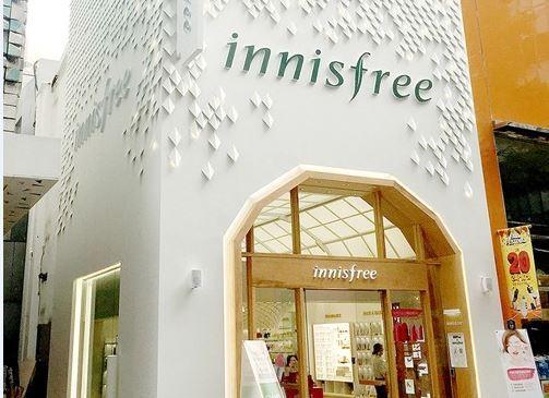 Innisfree flagship store in Myongdong Seoul