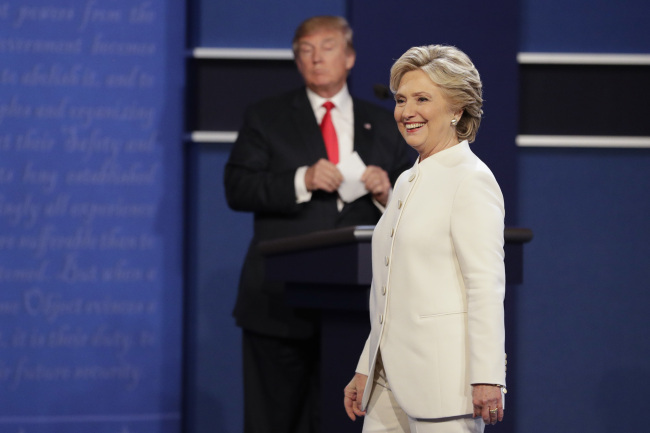 Trump made some very-not-light-hearted jokes about Clinton