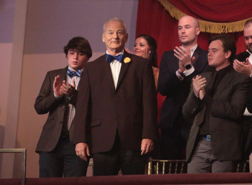 Bill Murray is honored with the Mark Twain Prize for American Humor at the Kennedy Center for the Performing Arts in Washington. (AP-Yonhap)