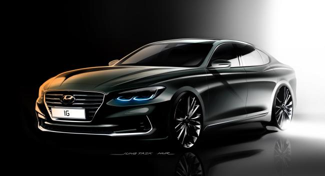 An image of the new Hyundai Grandeur (Hyundai Motor)