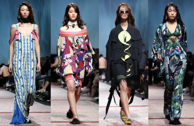 """A view of the """"Big Park"""" fashion collection that was shown on Oct. 18 during 2017 S/S HERA Seoul Fashion Week held at Dongdaemun Design Plaza in Seoul (Yonhap)"""