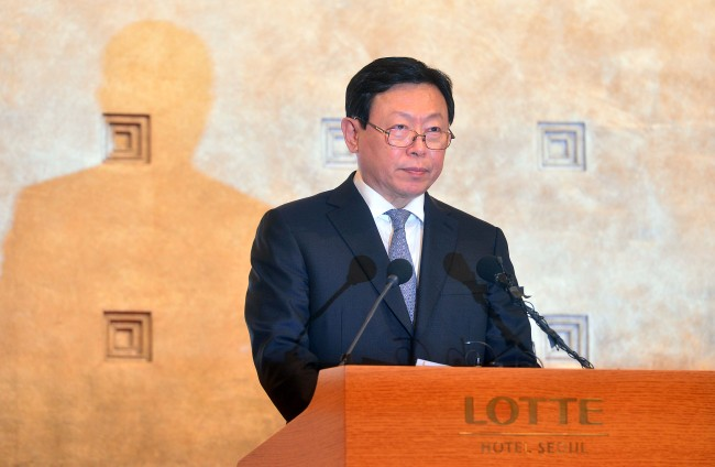 Lotte Group Chairman Shin Dong-bin. Lee Sang-sub/The Investor
