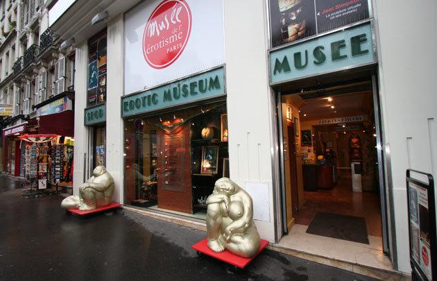 An exterior view of Paris' Museum of Eroticism (Museum of Eroticism)