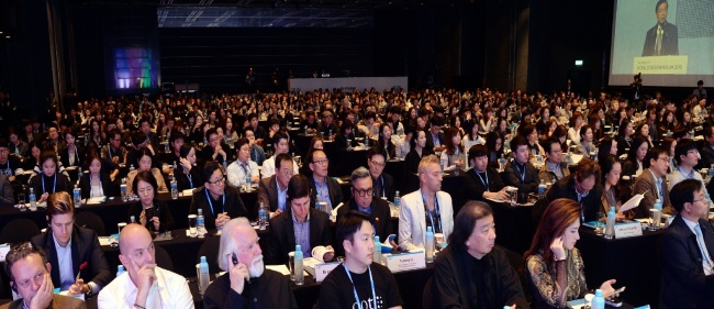 Forum guests listen to a lecture at Herald Design Forum 2015 held at the Grand Hyatt Seoul on Nov. 10 last year. (Herald Design Forum)