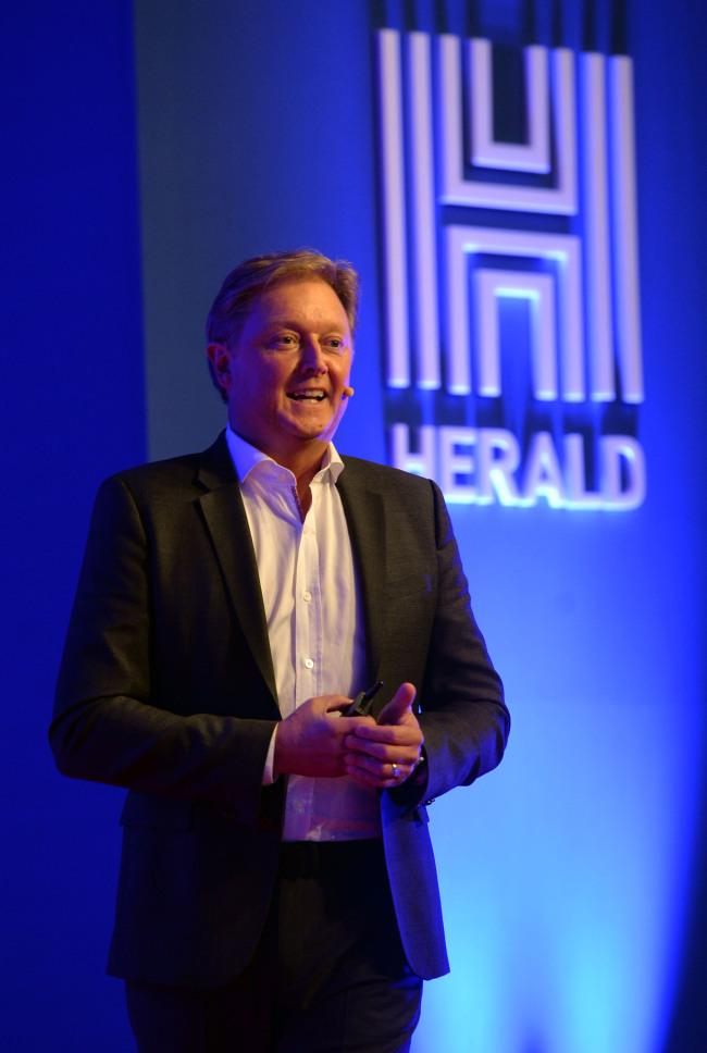Henrik Fisker speaks at the Herald Design Forum 2016 held at the Grand Hyatt Seoul on Tuesday. (Park Hae-mook/The Korea Herald)