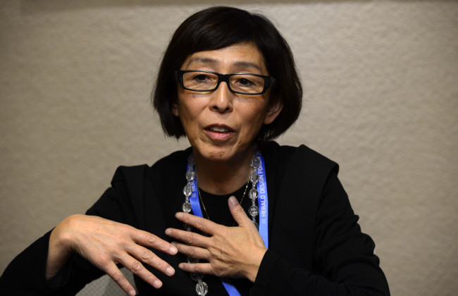 Pritzker Architecture Prize-winning architect Kazuyo Sejima speaks to The Korea Herald at the Grand Hyatt Seoul on Tuesday. (Park Hae-mook/The Korea Herald)