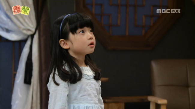 """Child actress Ko Na-hee, who trains at the TI Academy, stars in the MBC drama """"Working Mother, Babysitter Father."""" (MBC)"""