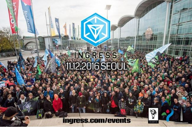 "INGRESS EVENT IN SEOUL -- Niantic, the developer of the smash hit augmented reality mobile game ""Pokemon Go"" will host a competition for its earlier-launched AR-based game ""Ingress"" in Jamsil, Seoul from Friday to Sunday. ""Ingress"" is a multiplayer mobile game utilizing AR technology in which users, belonging to teams, must capture ""portals"" at places of cultural significance and create virtual triangular ""control fields"" over geographical areas. The event, titled ""Ingress Anomaly Via Seoul Noir,"" is expected to draw more than 2,000 game fans from some 60 cities around the world, said Lotte Corp. which is hosting the event around the Lotte World Tower. (Lotte Corp.)"