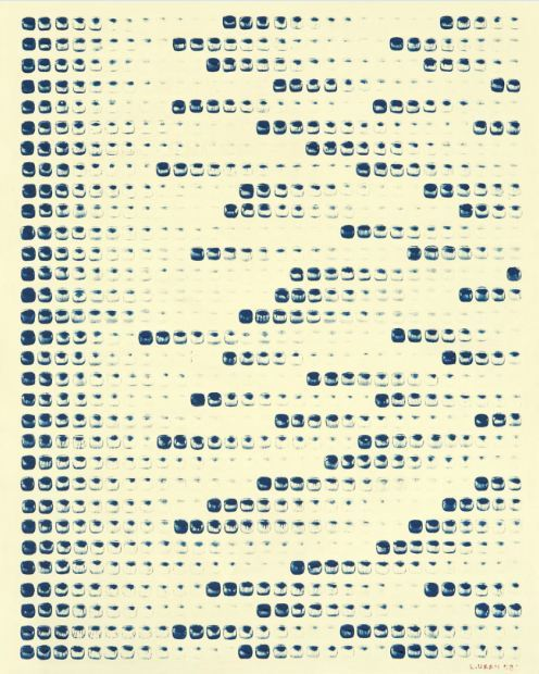 "Artist Lee U-fan's ""From Point No. 780217,"" which was sold for $415,600 last year (Yonhap)"