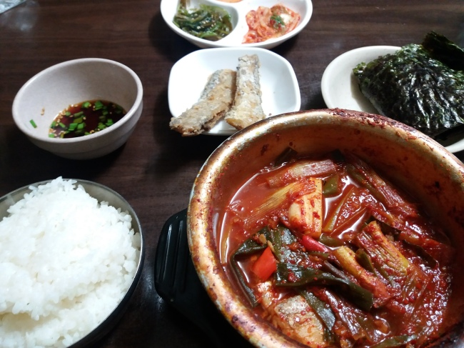 Braised hairtail fish in a sweet pungent sauce at Jungang Galchi Shikdang (photo cred: Christine Cho)