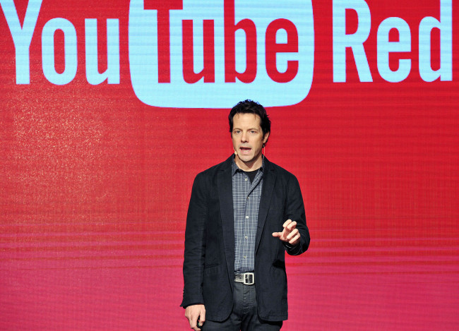 Adam Smith, vice president of product management at YouTube, speaks during a press conference held Tuesday in Seoul. (Google Korea)