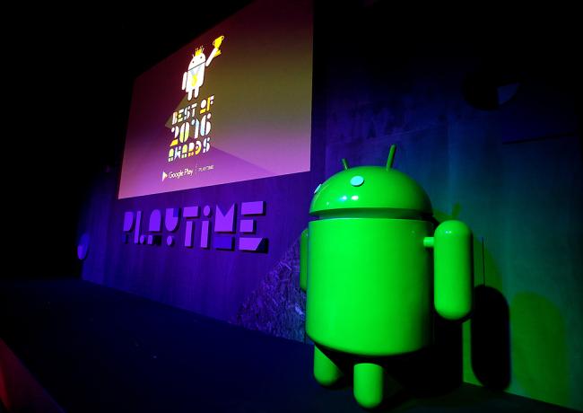 Google Korea holds the 2016 Google Play App Awards in Seoul on Tuesday evening. (Google Korea)