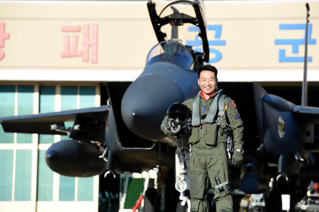 Maj. Kim Hak-seon, the Top Gun (Yonhap)