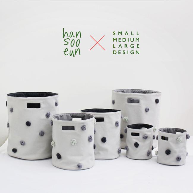 Fabric pom-pom baskets (Herald Design)
