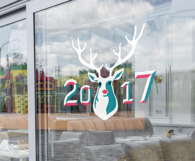 Nordic deer wall sticker (Herald Design)