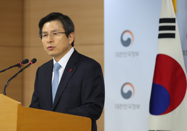 Prime Minister Hwang Kyo-ahn
