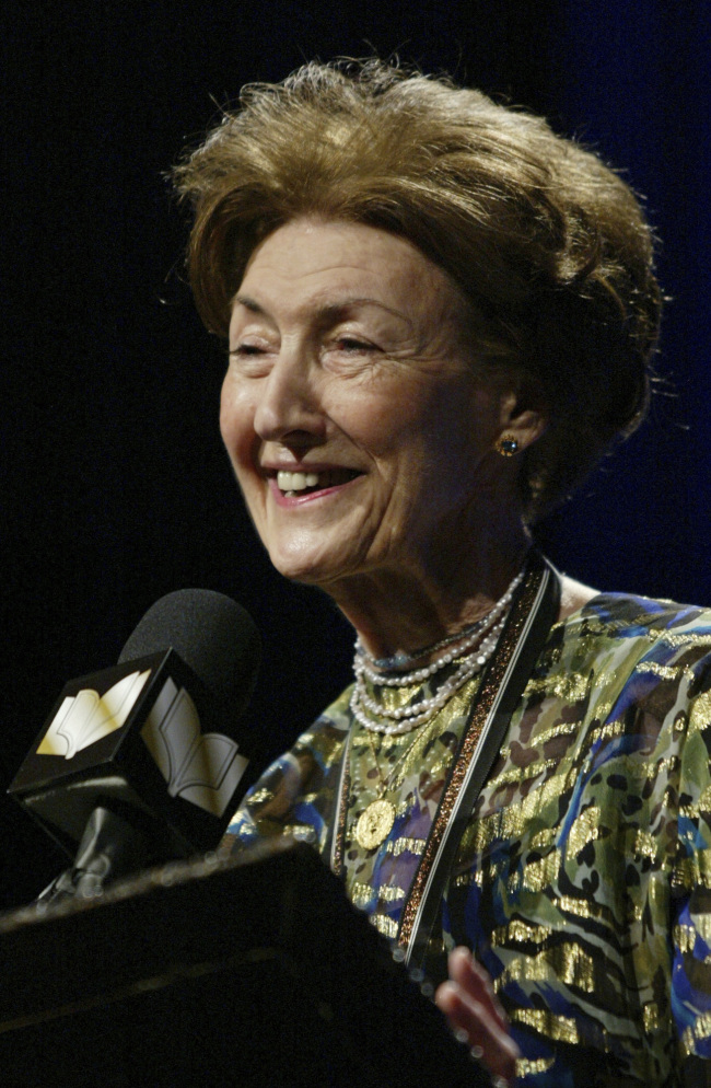 The award-winning novelist Hazzard died at her home Monday in New York City at age 85. (AP - Yonhap)