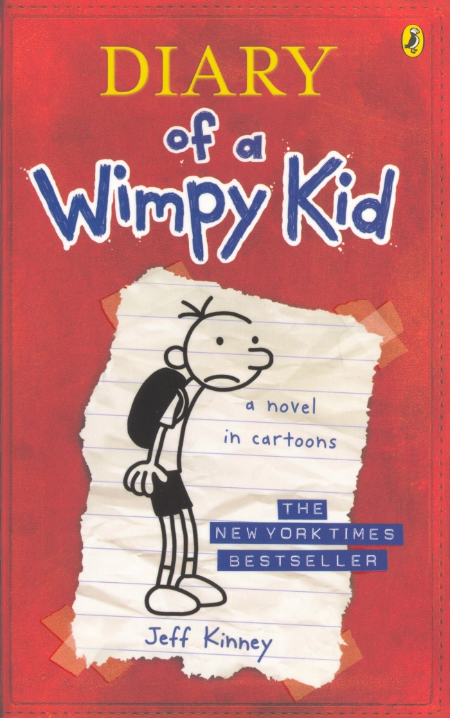 "The ""Diary of a Wimpy Kid"" series by Jeff Kinney"