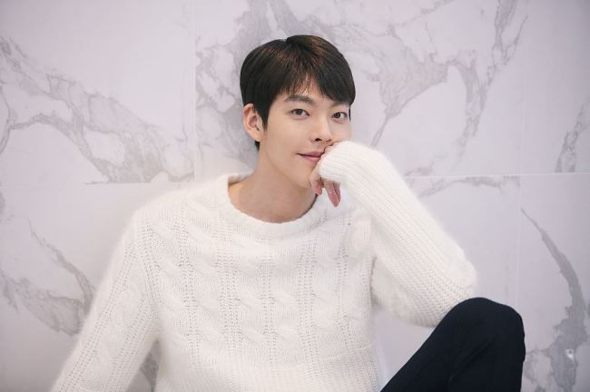 Actor Kim Woo-bin poses for a photo before a press interview in Samcheong-dong, Seoul on Monday. (Sidus HQ)