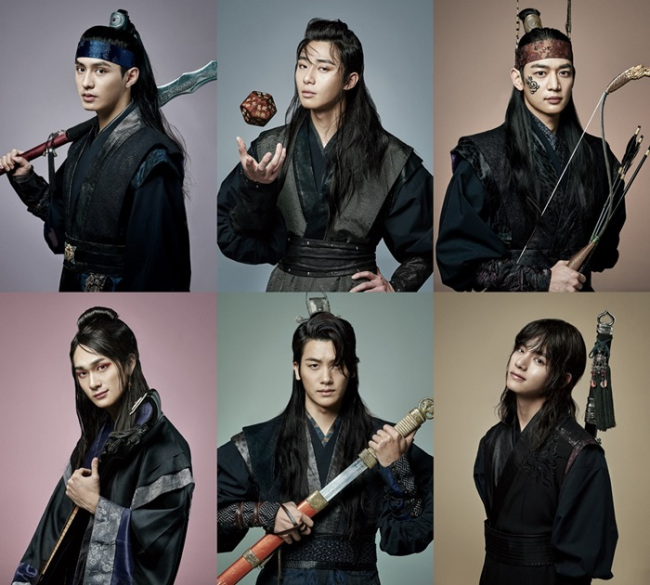 """A promotional image for the TV drama """"Hwarang: The Poet Warrior Youth."""" (KBS2)"""