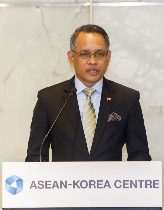 Aung Naing Oo, director general of the Myanmar Directorate of Investment and Company Administration (ASEAN-Korea Center)