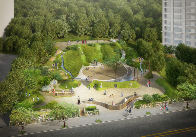 An artist's rendering of the Miracle Playground in Suncheon, South Jeolla Province. (Pyun Hae-moon)