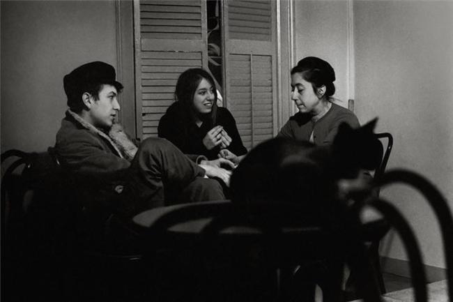 Bob Dylan, Suze Rotolo, and Lena Spencer, Caffe Lena, 1962 (Morrison Hotel Gallery)