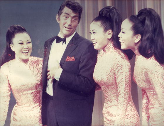 The Kim Sisters with Dean Martin (Wikipedia)