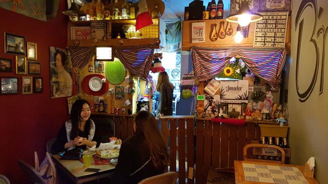 The interior of B'mucho Cantina, a Mexican restaurant run by Julian Tellez-Mercado (Rumy Doo/The Korea Herald)