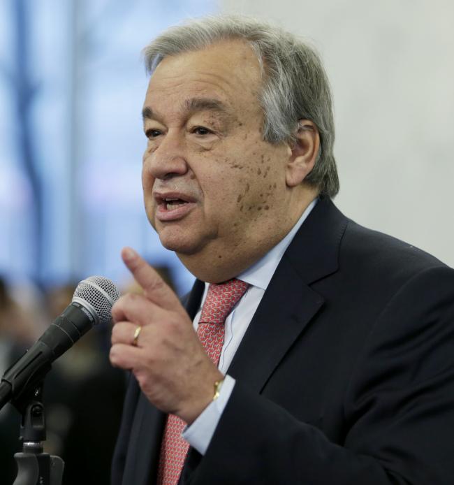 UN Secretary-General Antonio Guterres (Yonhap)