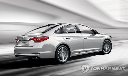 This undated photo shows the special winter edition of the Hyundai Sonata mid-sized sedan. The South Korean carmaker is set to unveil a new facelift version of the car in March 2017. (Hyundai Motor)