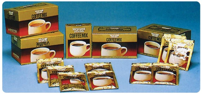The world's first coffee mix from Dongsuh Foods, released in 1976 (Dongsuh Foods)