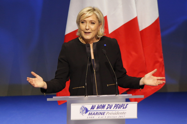 French far-right leader Marine Le Pen (Yonhap)