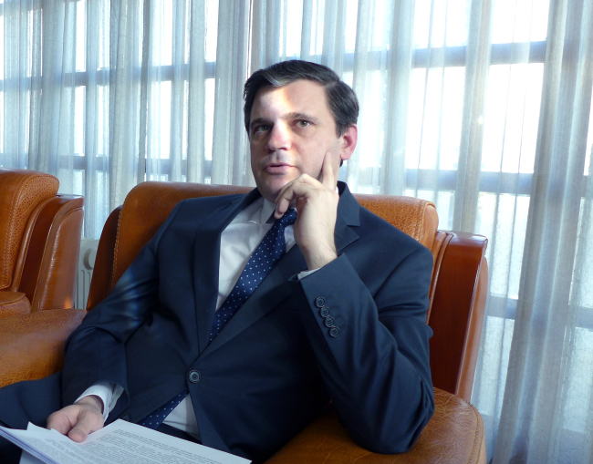 Belarusian Ambassador to Korea Andrei Popkov (Joel Lee/The Korea Herald)