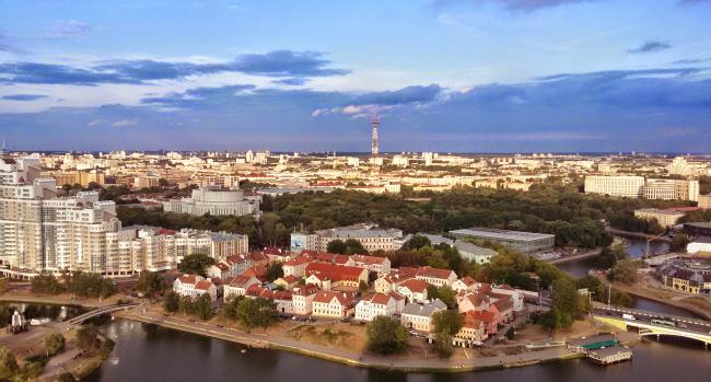 A view of the Svisloch River and Minsk (Vadim Sazanovich)
