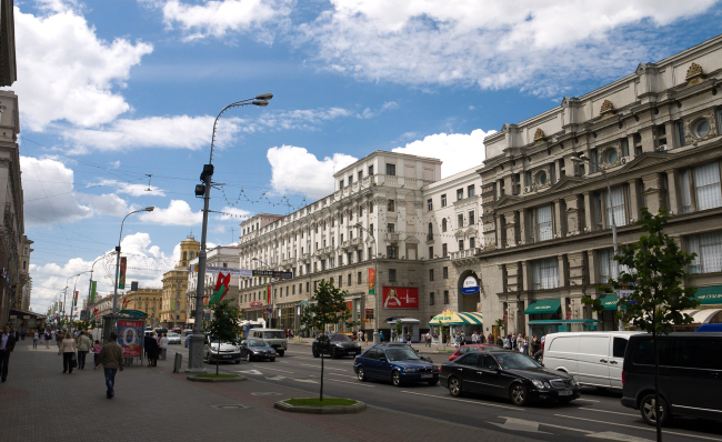 The Independence Avenue in Minsk (Pavel Urusov)