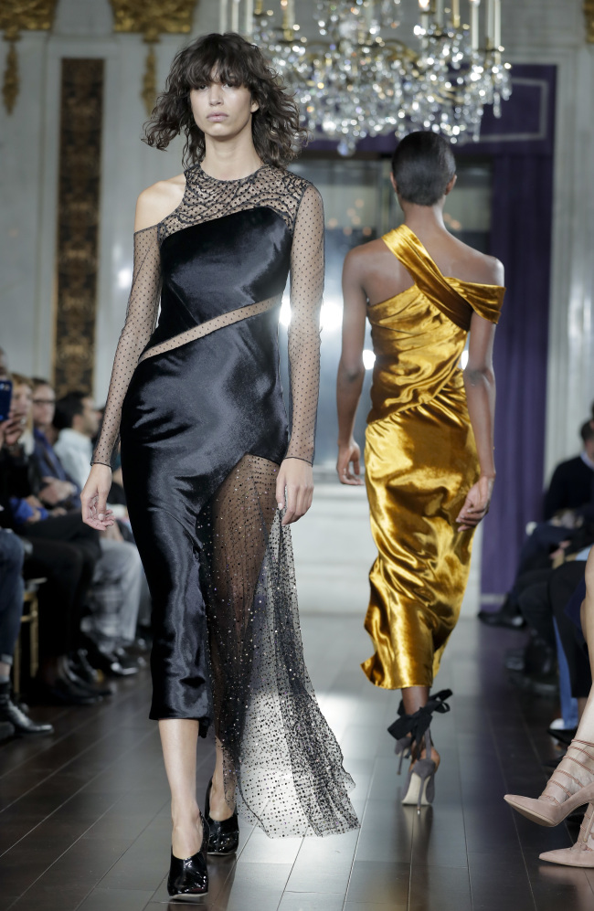 The Jason Wu fashion collection is modeled at New York Fashion Week on Friday. AP-Yonhap