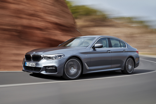 Exterior view of the BMW's latest 5-Series, which will be available in Korea starting Feb. 21 (BMW Korea)