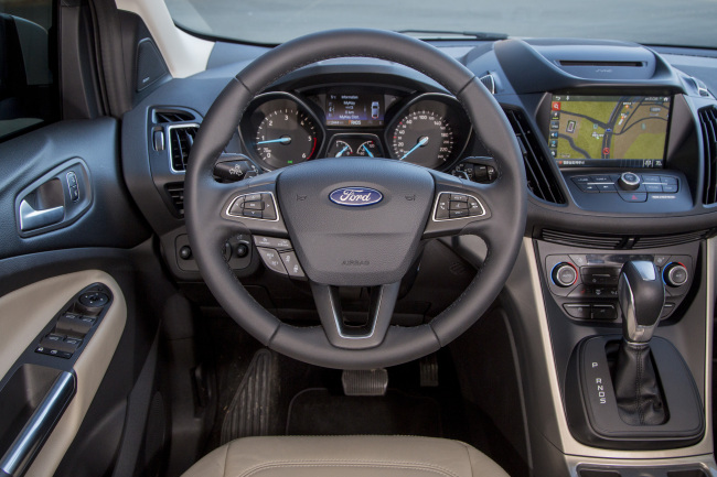 The interior of the new 2017 Ford Kuga SUV (Ford Korea)